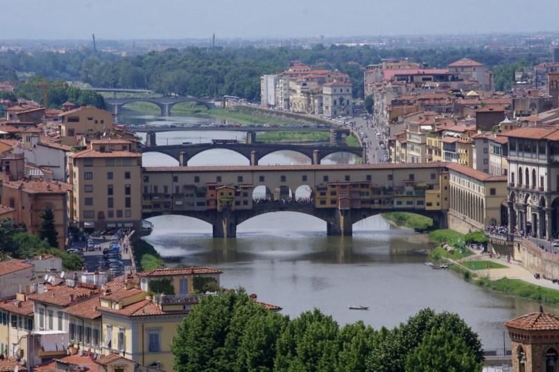 Ponte Vecchio, widok z Oltrarno, Piazzale Michelangelo
