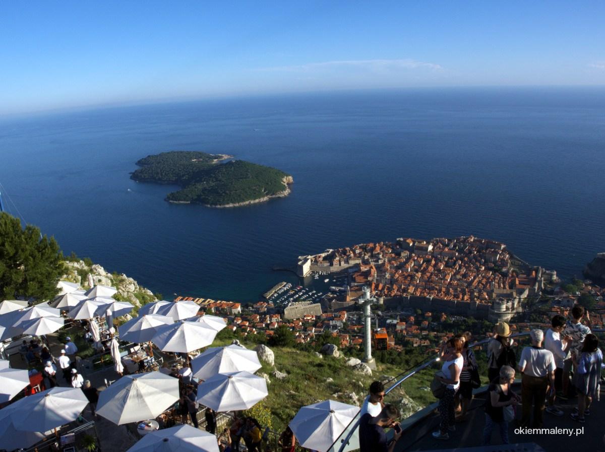 Wzgórze Srđ - panorama Dubrownika i przeklęte Lokrum
