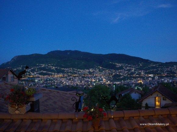 wieczorna panorama Sarajewo z Kibe Mahala