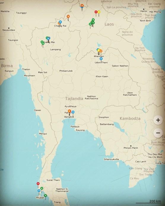 Laos trasa