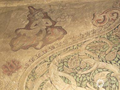 freski w świątyni, bagan