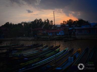 okolice Nyaung Shwe - zachód słońca, Birma