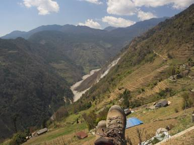 treking w Nepalu - w drodze do Sinuwa