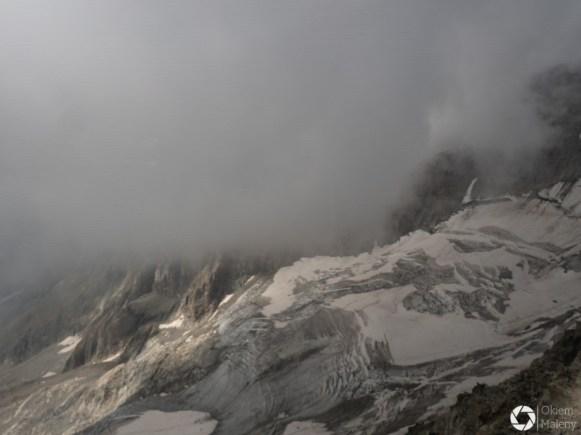 Courmayeur - mgły w Alpach