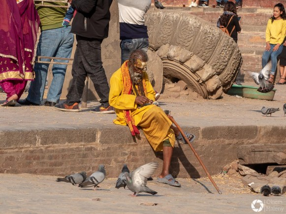 sadhu na Durbar Square w Katmandu