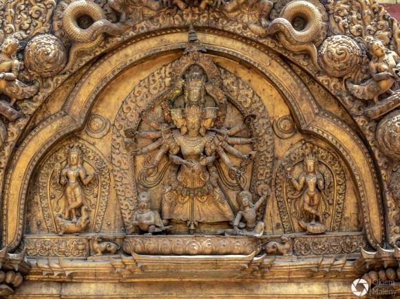 Złota brama w Bhaktapurze, Nepal, sztuka newarska