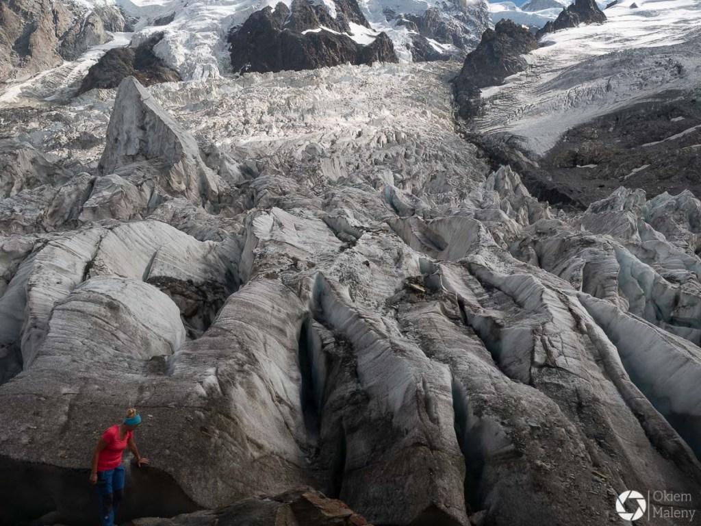 Widok na lodowiec z La Jonction