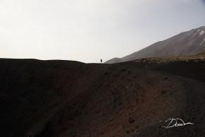 Krawędź jednego z bocznych kraterów