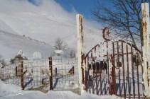 Cmentarz w górach, okolice Lukavac