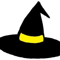 ハロウィン素材「魔女の帽子」