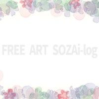 カントリー系フリー素材「かわいい小花柄フラワー枠#01」