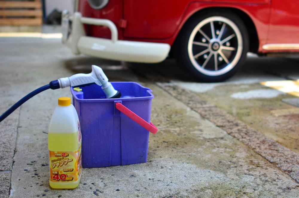 洗車で塩を落とす