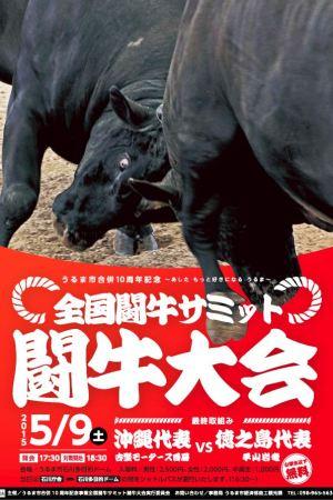 うるま市合併10周年記念事業 全国闘牛サミット闘牛大会のフライヤー1