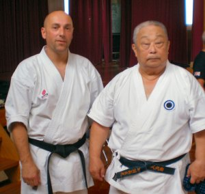 Glyn Jones Sensei and Onaga Sensei