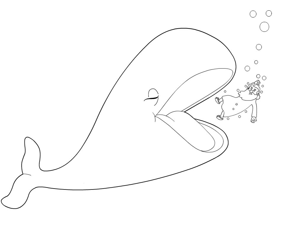 Cartoon Whale Coloring Pages Printable