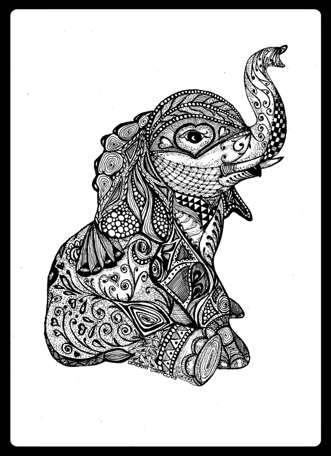 Elephant Mandala Coloring Pages Collection | Free Coloring ... | mandala art coloring pages animals