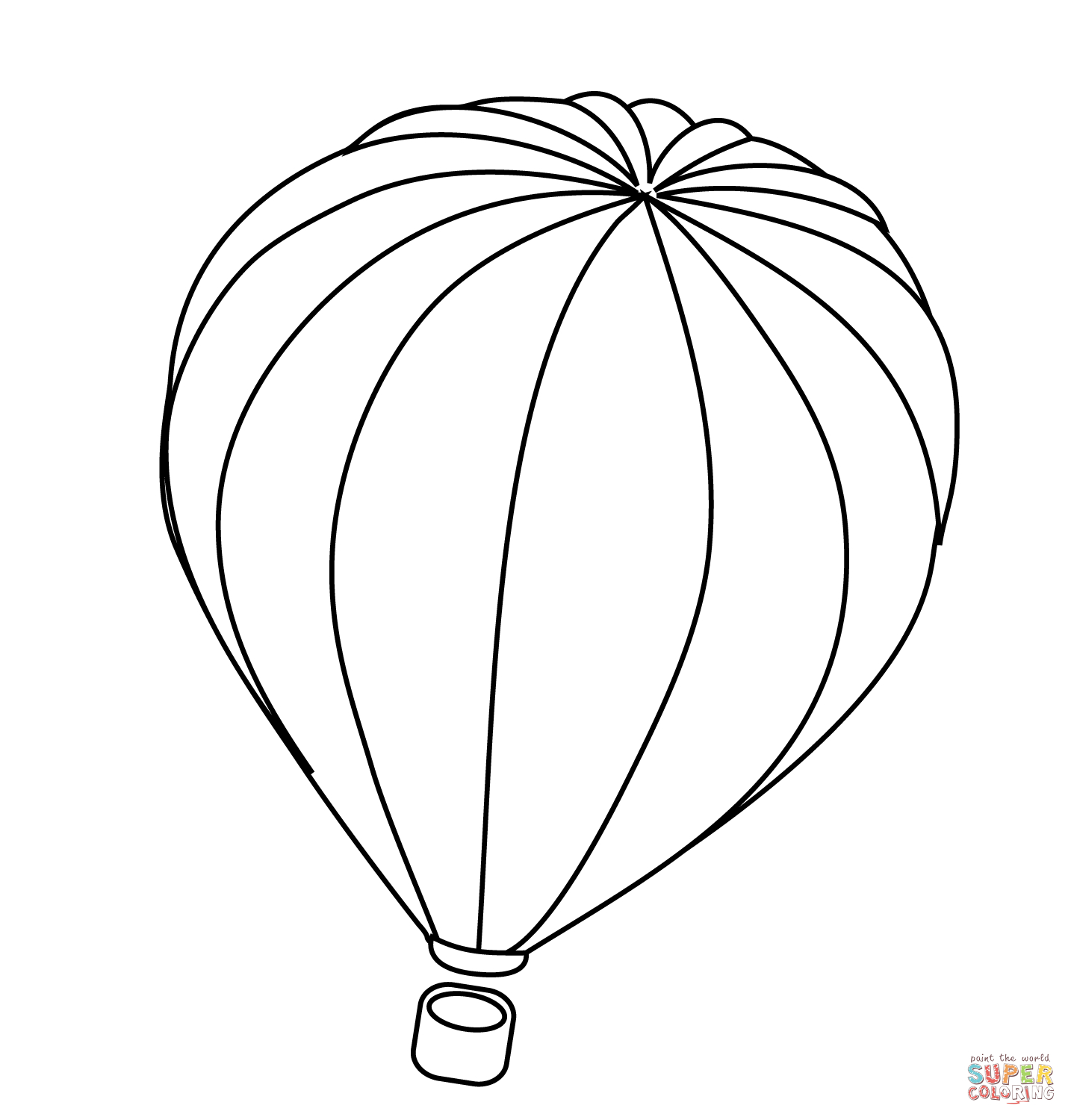 Hot Air Balloon Coloring Pages Printable