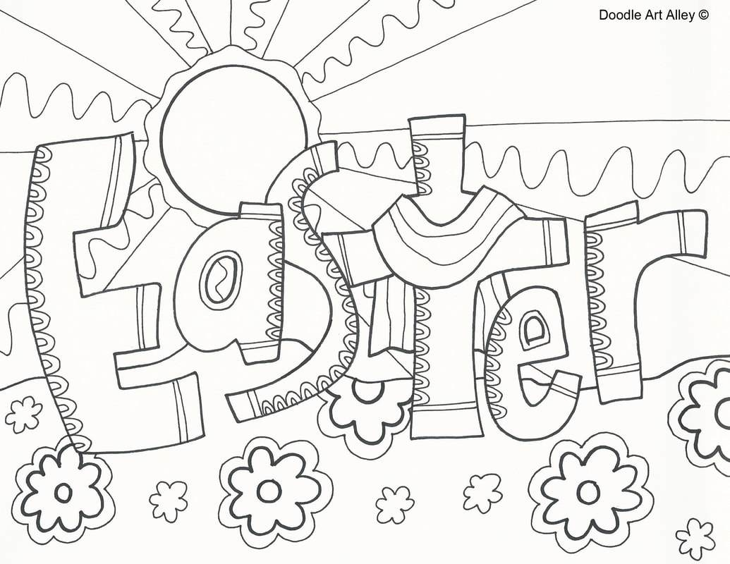 Sunday School Coloring Pages Easter Collection