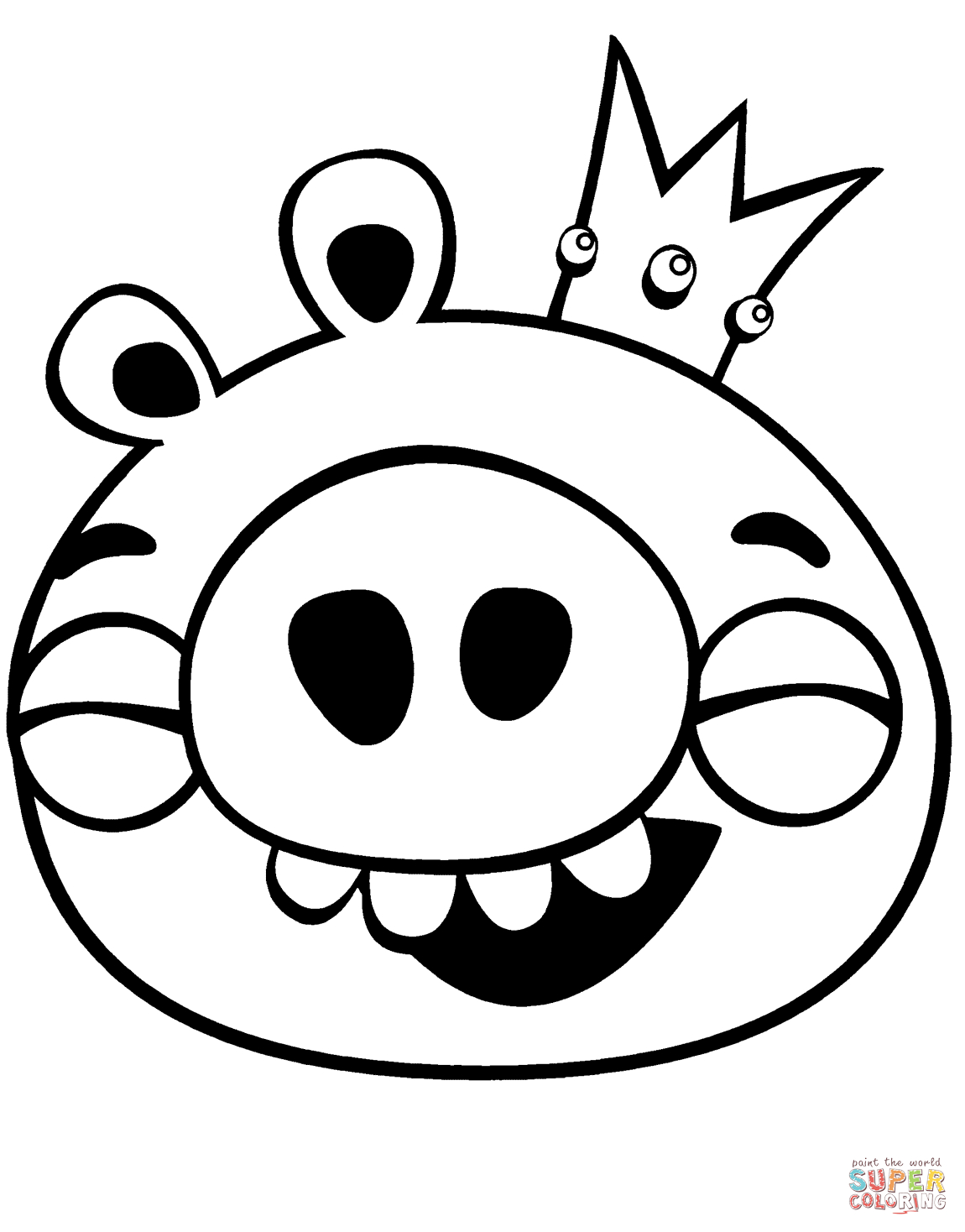 Angry Bird Pigs Coloring Pages Printable