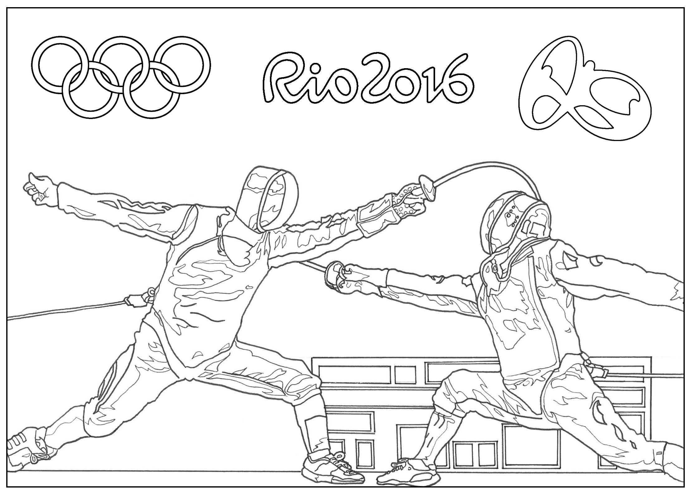 Special Olympics Coloring Pages To Print