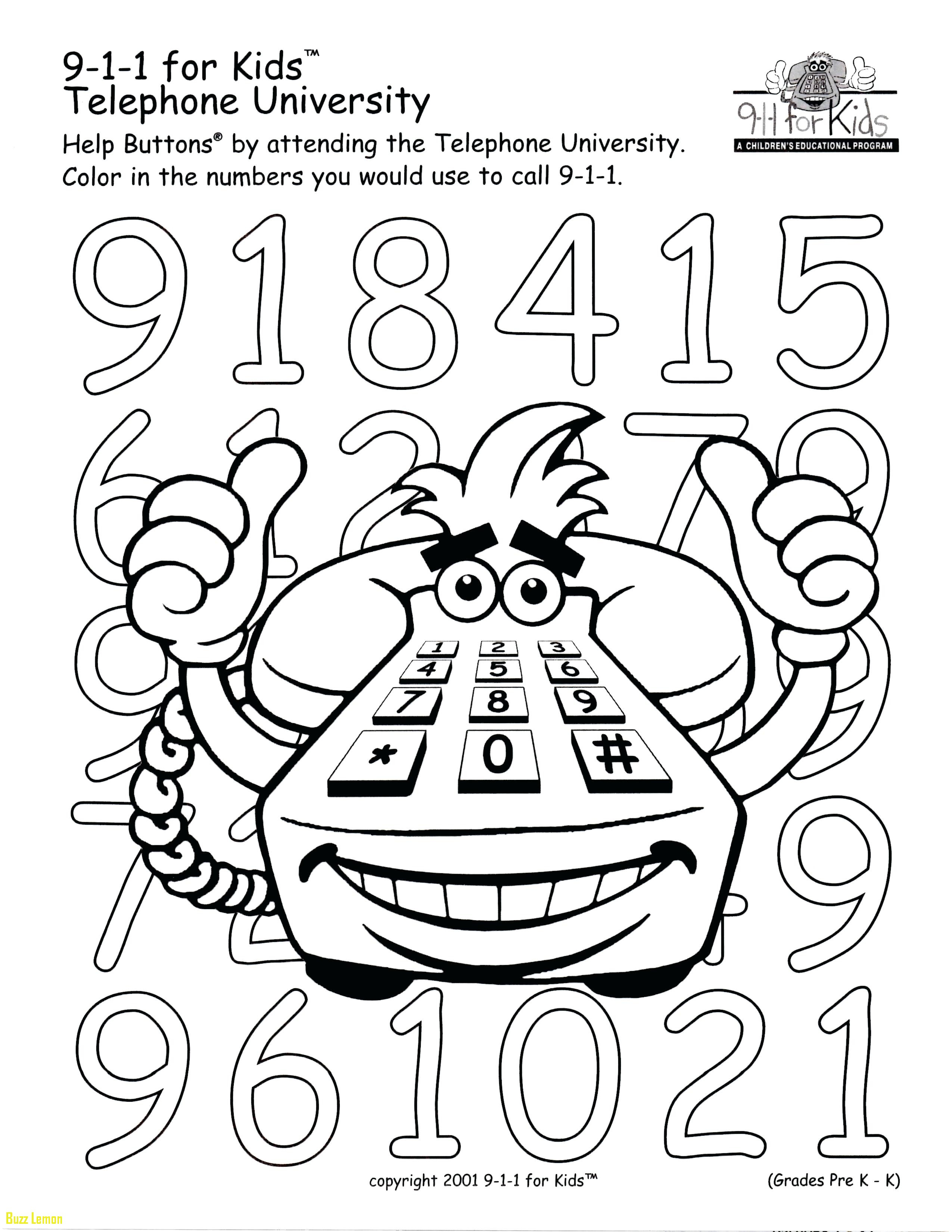 Get 911 Coloring Page