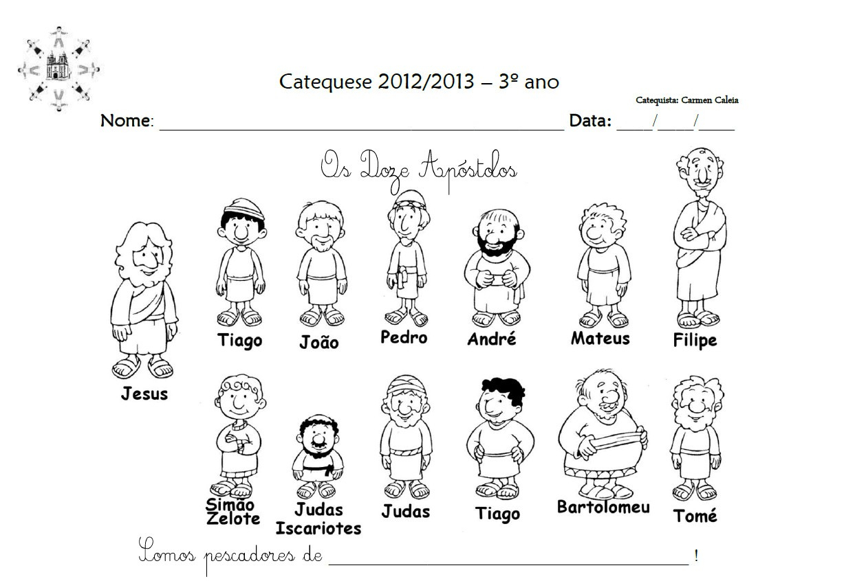 Disciples Coloring Pages Printable Collection