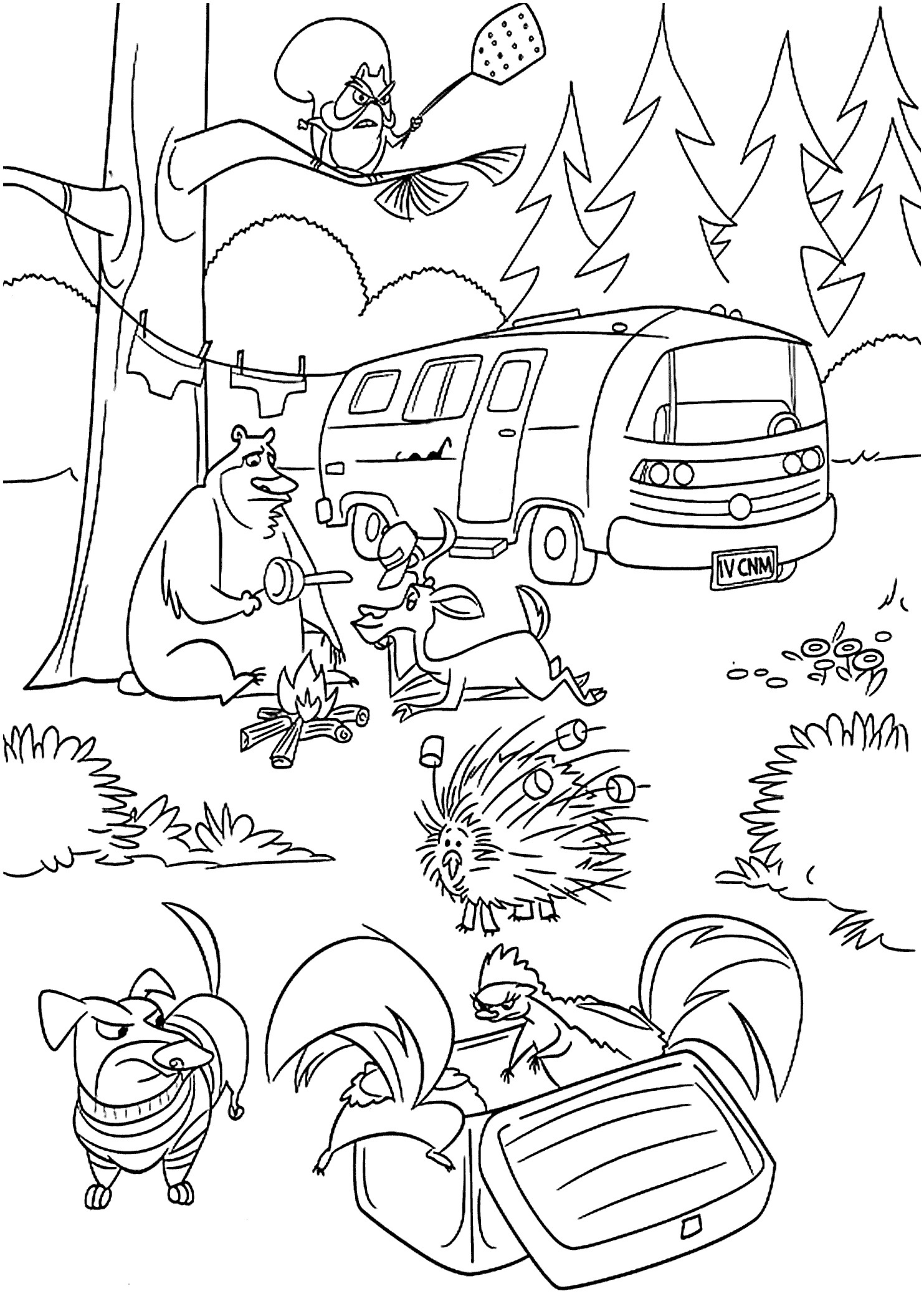 Firefighter Coloring Pages For Preschoolers Printable