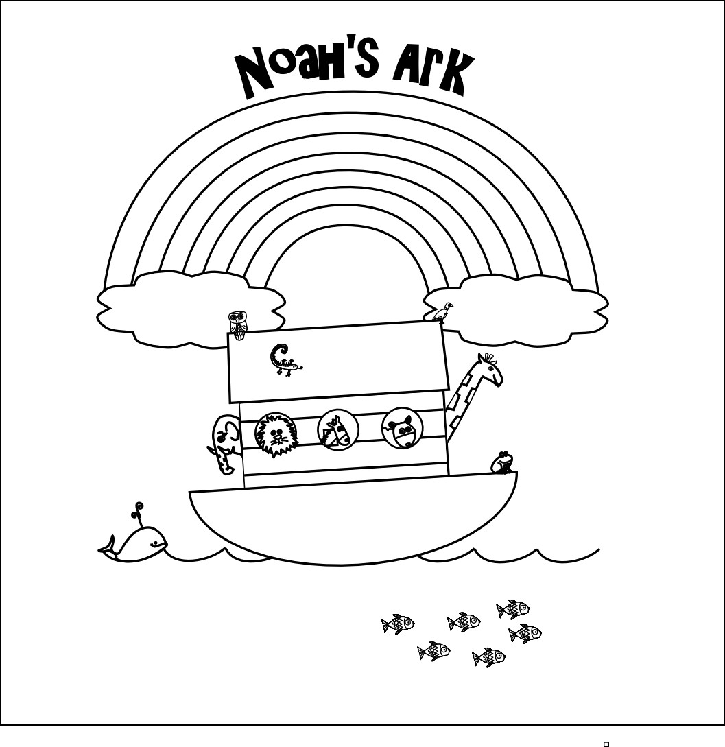 God S Promise Rainbow Coloring Pages To Print