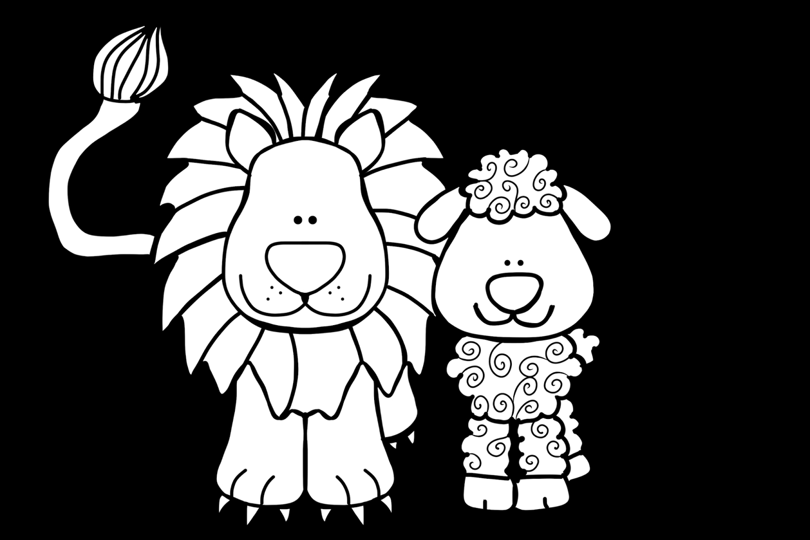 Lion And Lamb Coloring Pages Collection