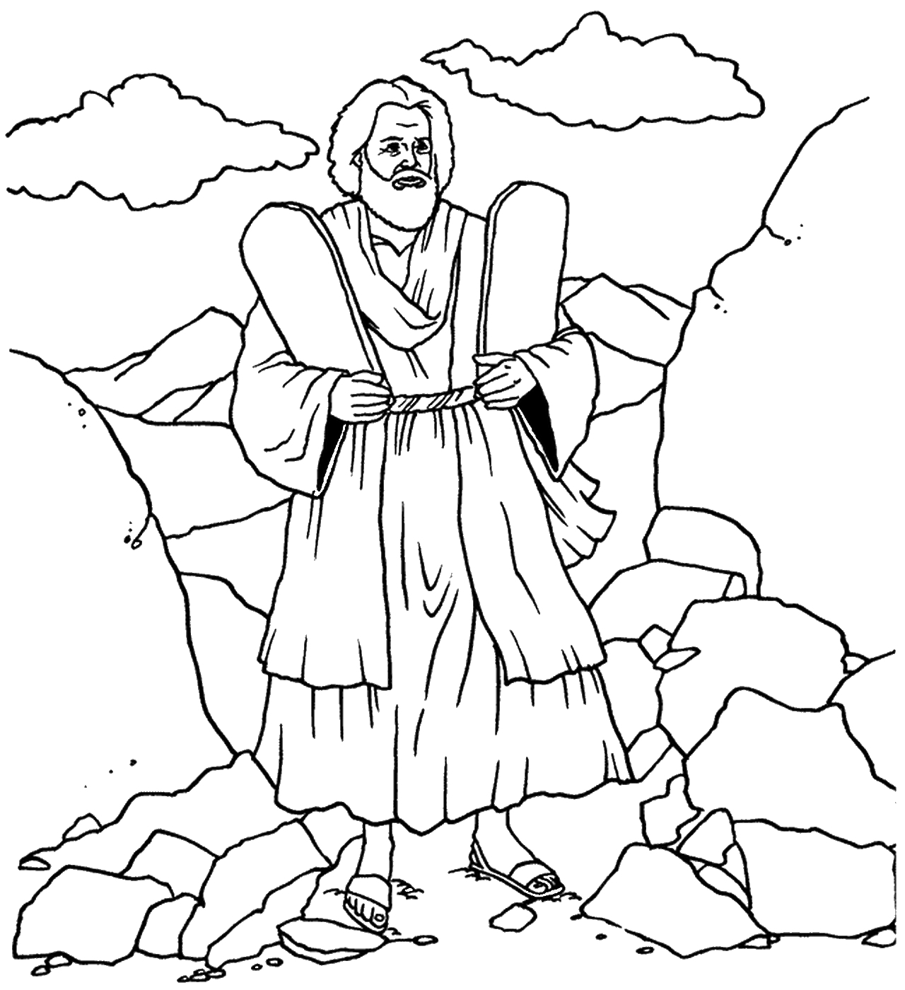 The Ten Commandments Coloring Pages Printable Gallery