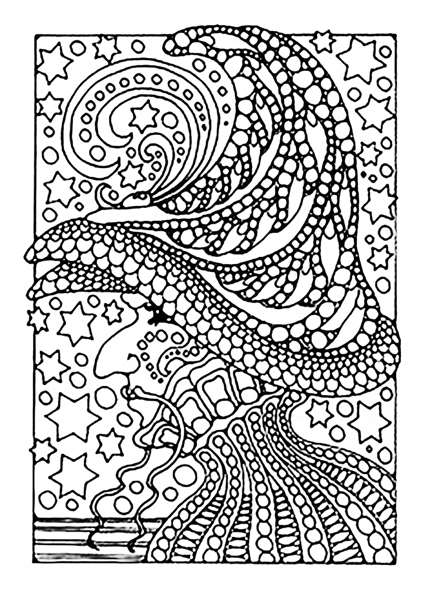 Zentangle Coloring Pages Printable