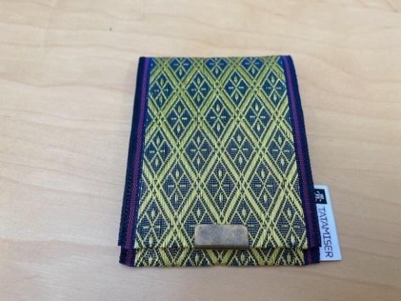 畳縁で作ったカードケース