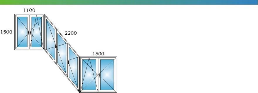 Пластиковые окна на лоджии сапожок дома П3 с размерами М