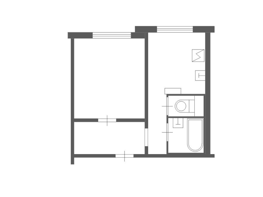 Планировка однокомнатной квартиры в доме серии П3М