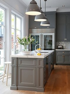 The Best Gray Paint Colors for Your Kitchen Interior design by Susan Greenleaf