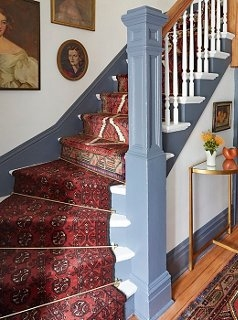 A Gorgeous Vintage Runners Diy Idea For Your Stairs | Rug Runners For Stairs | Wood | Antelope | Hallway | Persian | Mid Century Modern