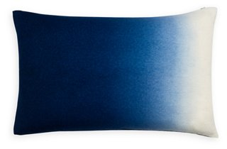 dip dyed 14x22 lumbar pillow indigo