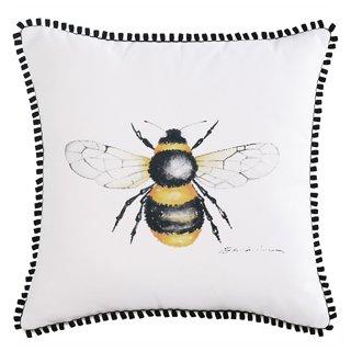 quinn pillow white yellow