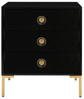 kennie 3 drawer nightstand black one