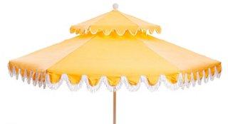 daiana two tier fringe patio umbrella yellow