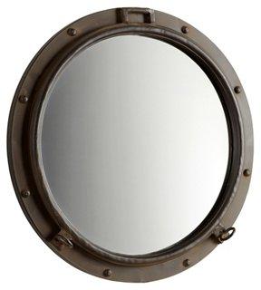 Porto Wall Mirror, Rustic Bronze - Cyan - Brands