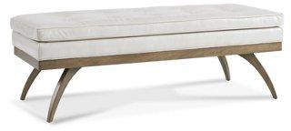 dayton 54 tufted bench ivory leather