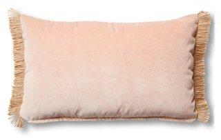 celeste 12x20 lumbar pillow blush velvet