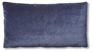 ada long lumbar pillow navy velvet