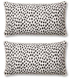 s 2 agra lumbar pillows black sunbrella