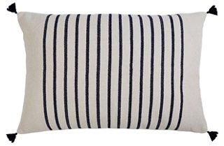 morrison 28x36 lumbar pillow navy stripe