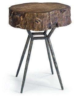 Cosmo Wood Side Table, Ebony