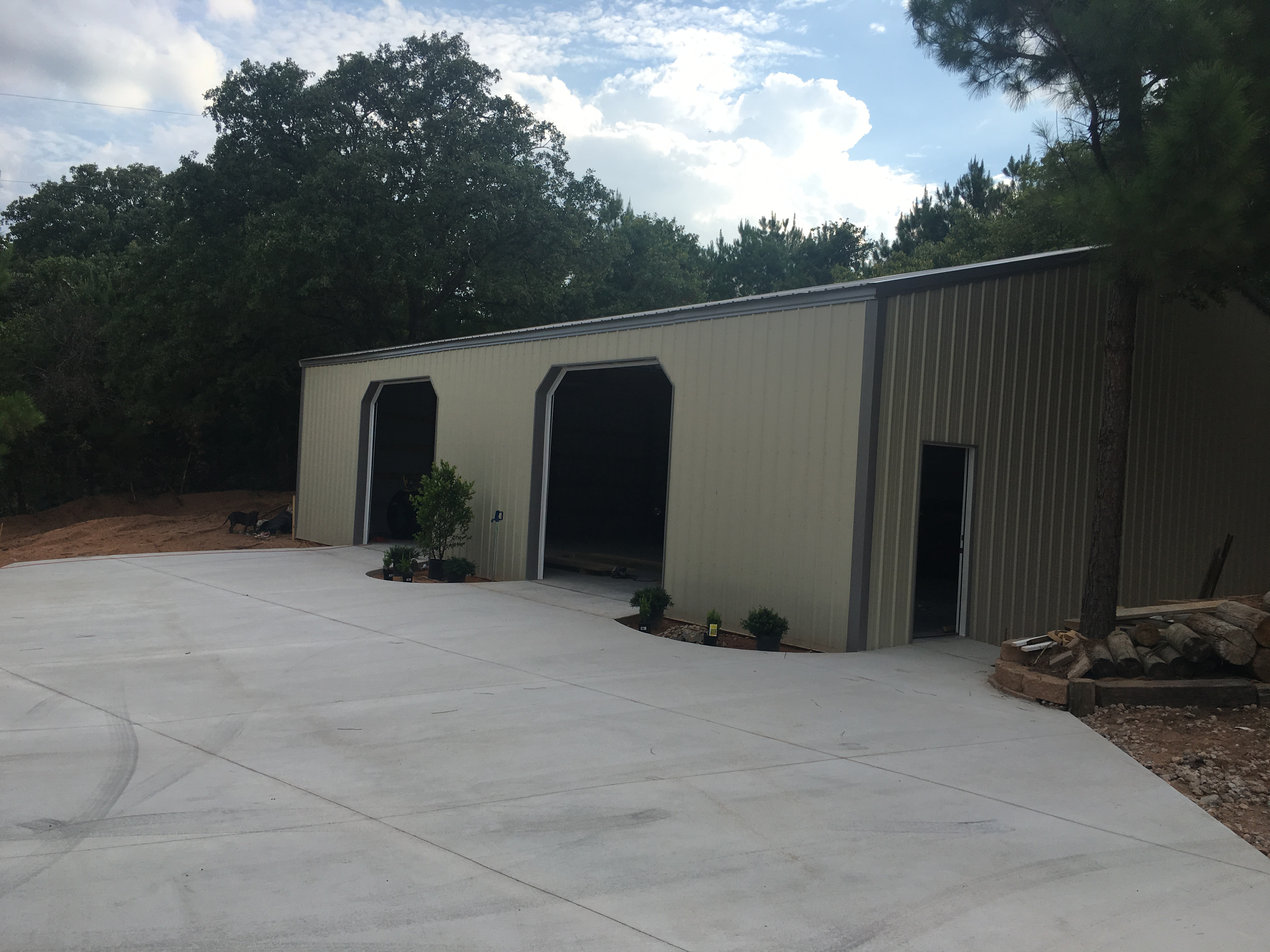 Oklahoma Metal Building With Driveway