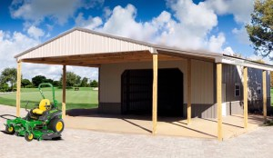 Pole Barn With Covered Parking and Porch