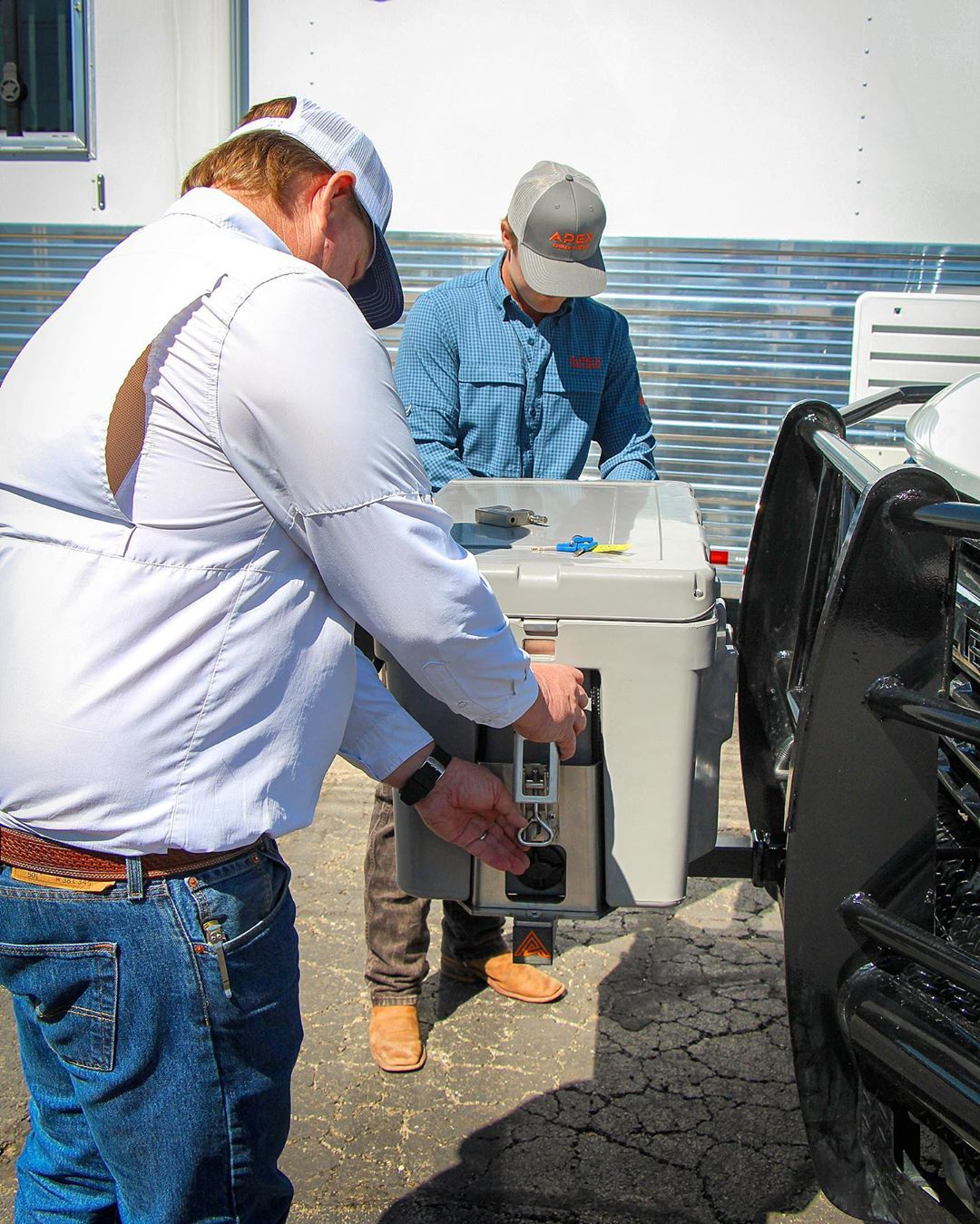 Attaching Apex Cooler system to brush guard in OKC
